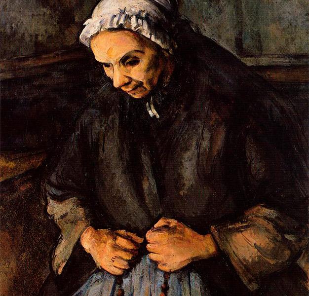 Velha-com-rosário-nas-mãos,-de-Paul-Cézanne